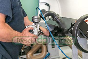 Test turbosprężarki(doładowanie, wydajność) na urządzeniu Cimat Turbo test