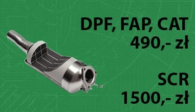 Regeneracja DPF, FAP, SCR